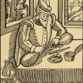 Alchemist bei der Arbeit im Laboratorium