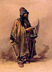 Derwisch um 1860, Gemälde von Amedeo Preziosi