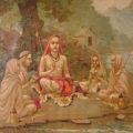 Shankara mit Schülern (Gemälde von Raja Ravi Varma, 1904)Shankara mit Schülern (Gemälde von Raja Ravi Varma, 1904)