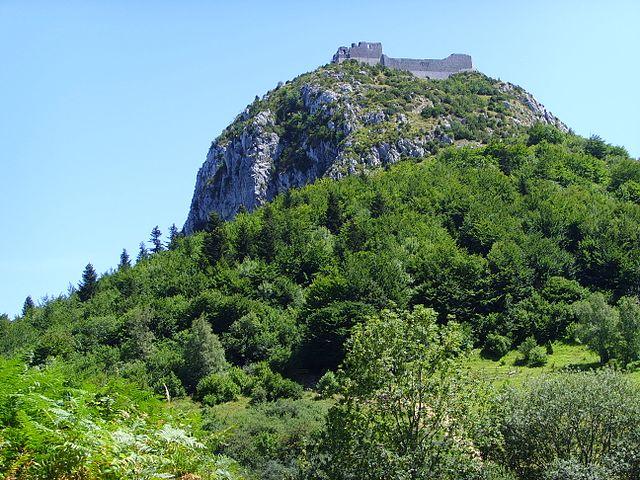 Berg und Katharerburg Montségur